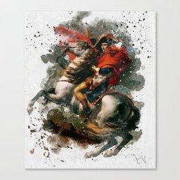 Napoleon Bonaparte Watercolor Canvas Print