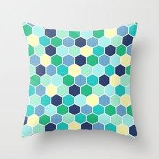 Galactic Hexagons 2 Throw Pillow