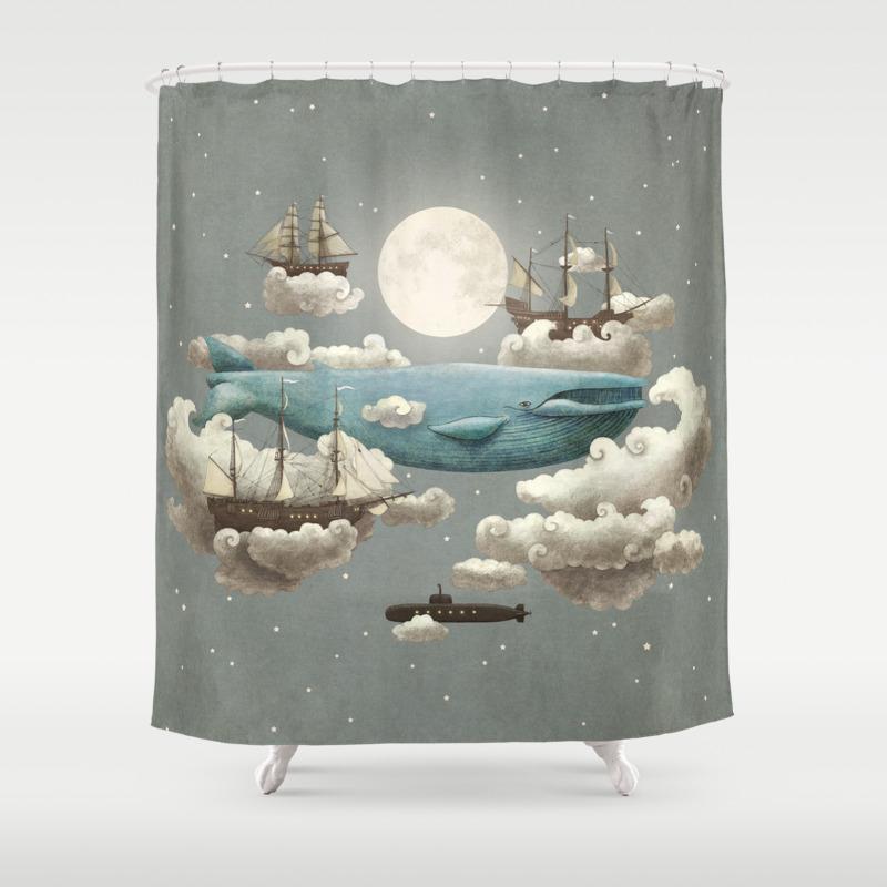 Whale shower curtain - Whale Shower Curtain 18