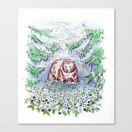 Blueberry fields Canvas Print