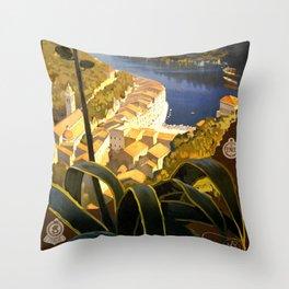 La Riviera italienne, Portofino près de S.Margherita et Rapallo Throw Pillow