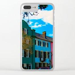 Rainbow Row Clear iPhone Case