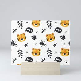 Cute Baby Lion Roar Mini Art Print