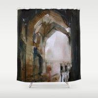 ali gulec Shower Curtains featuring Under the Ali Qapu palace by Behzad Bagheri