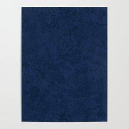Marble Granite - Deep Royal Blue Poster