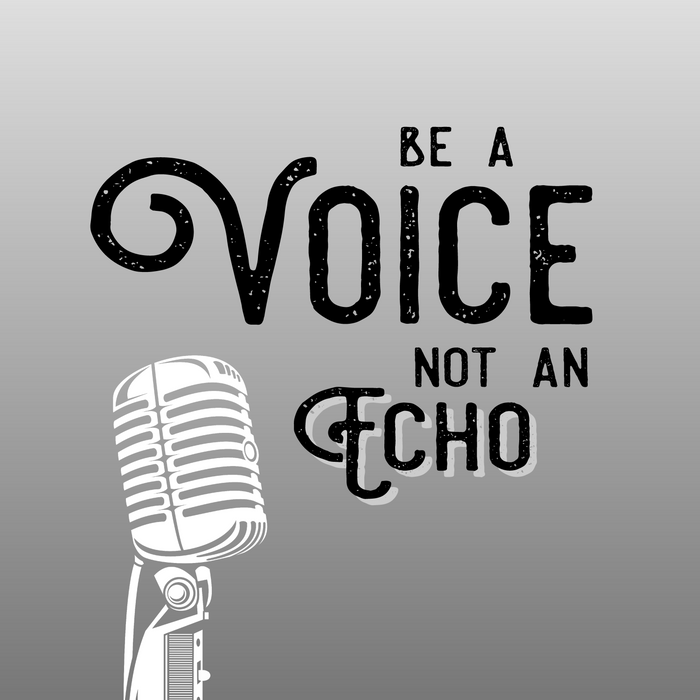 Be a Voice, Not an Echo - Speak UP!  Speak Out! Black and White Comforters