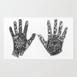 Hands of Contrast Rug