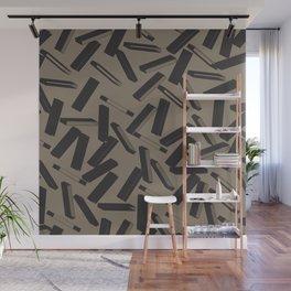 3D X Pattern Wall Mural