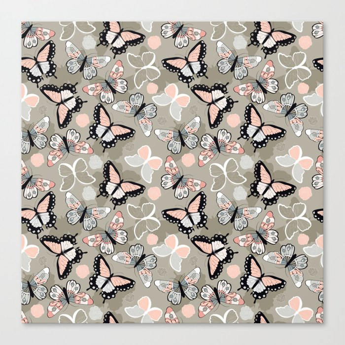 Butterfly pattern 002 Canvas Print