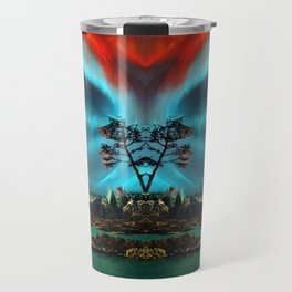 Dancing in the Northern Lights night Travel Mug