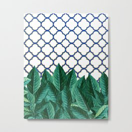 Leaves & Tiles #society6 #decor #buyart Metal Print