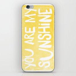 My Sunshine Love iPhone Skin