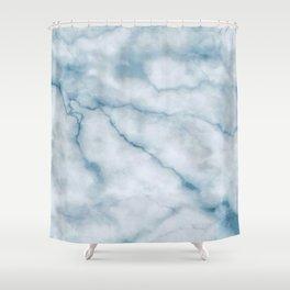 Light blue marble texture Shower Curtain