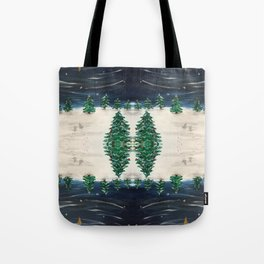 Christmas Snowy Winter Landscape Tote Bag