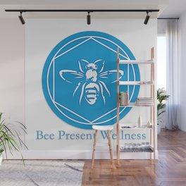 Bee Present Wellness Logo Wall Mural
