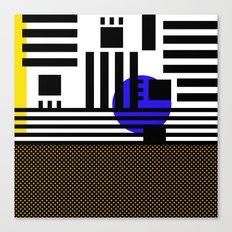 stripes mesh Canvas Print