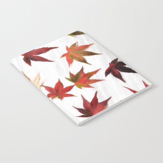 AUTUMN LEAVES PATTERN #2 #decor #art #society6 Notebook