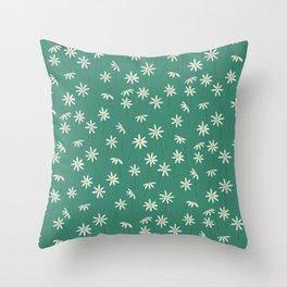 Daisy Green Throw Pillow