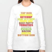hamburger Long Sleeve T-shirts featuring Hamburger by AURA-HYSTERICA