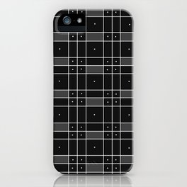 Black Squares and Dots iPhone Case