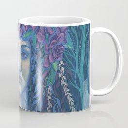 Foxgloves, Dryad Forest Spirit Surreal Fantasy Coffee Mug