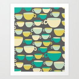 Coffee Mugs Art Print
