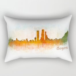 Bogota City Skyline Hq V3 Rectangular Pillow