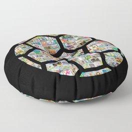 Dark Philately Soccer Ball Floor Pillow