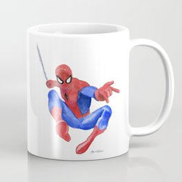 Spider-man Watercolor Painting Coffee Mug