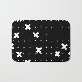 Cosine White on Black Bath Mat