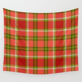 Green and red tartan plaid 3 Wall Tapestry