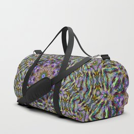 ABSTRACT FRACTAL KALEIDOSCOPE PSYCHEDELIC STRIPES 3 Duffle Bag