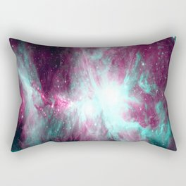 Orion Nebula Fuchsia Aqua Teal Rectangular Pillow