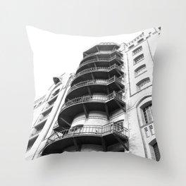 Warehouse District Architecture Hamburg Throw Pillow