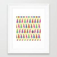 penguins Framed Art Prints featuring Penguins by Dana Martin