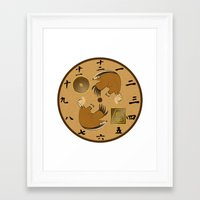 avatar the last airbender Framed Art Prints featuring Avatar The Last Airbender Earth Clock Face by Art of Sara