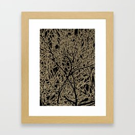 Tangled Tree Branches in Black and Sepia Framed Art Print