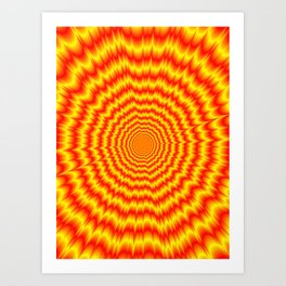 Big Bang in Red and Yellow Art Print