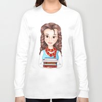 hermione Long Sleeve T-shirts featuring Beauty Granger. Belle / Hermione crossover by Missy Corey