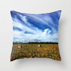 Pumpkin season is here Throw Pillow