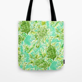 ALL INTENTS AND TURTLEST Snake Neck Turtles Tote Bag