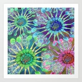 Abstract Passion Flower Burst Art Print