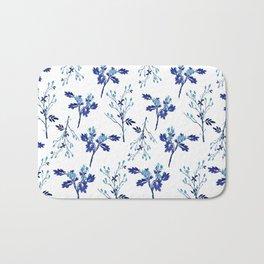 Winter Blue Berries Pattern Bath Mat