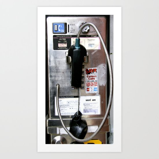 Pay Phone VIII Art Print