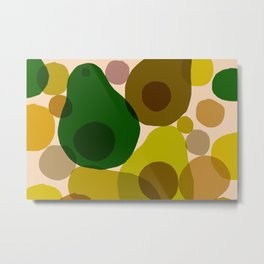 Abstraction_AVOCADO_Love_Minimalism_001 Metal Print