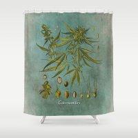 cannabis Shower Curtains featuring Cannabis by jbjart