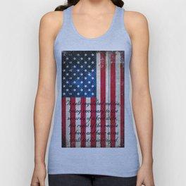 2nd Amendment on American Flag - Vertical Print Unisex Tank Top