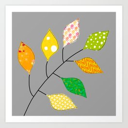 Golden Leaf Art Print
