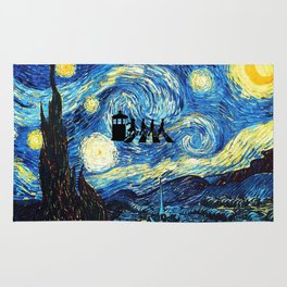 The Doctors Walking Of Starry Night Rug