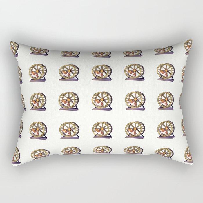 Cute Funny Hamster Pattern Illustration Rectangular Pillow